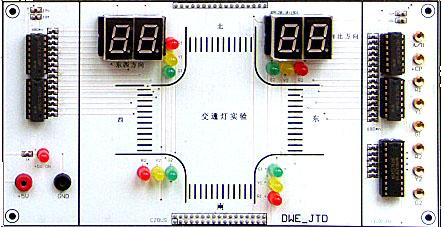 图3-4交通灯的输入输出接线图