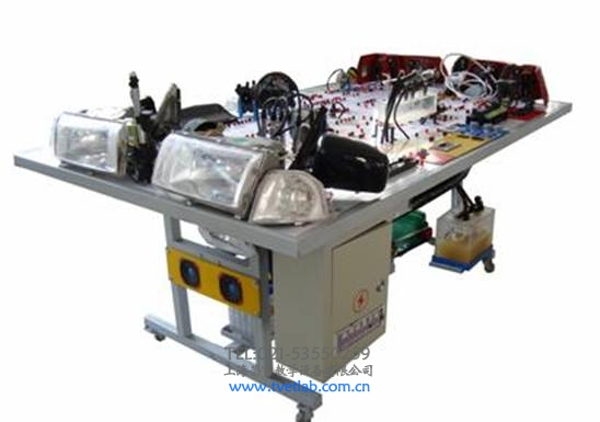 一)桑塔纳时代超人全车电器实训台产品简介 本产品以大众桑塔纳时代超人全车电器实物为基础,展示灯光系统、仪表系统、点火系统、起动系统、充电系统、发动机电控系统、喇叭系统、电动车窗系统、电动门锁系统、雨刮系统、音响等各系统的组成结构和工作过程。适用于中高等职业技术院校普通教育类学院和培训机构对汽车全车电器系统的理论和维修实训的教学需要。本实训台功能齐全、操作方便、安全可靠。 (二)桑塔纳时代超人全车电器实训台结构组成 灯光系统、仪表系统、点火与喷射系统、起动系统、充电系统、发动机电控系统、、防盗电脑及点火开
