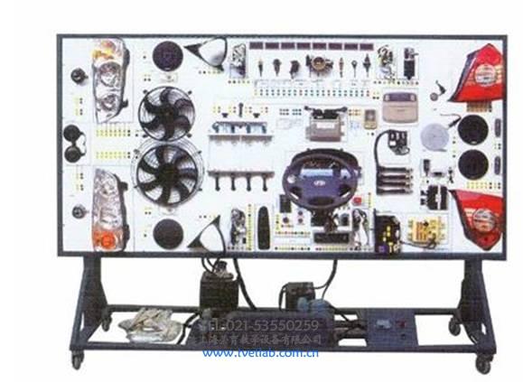 (一)奇瑞瑞虎全车电器实训台产品简介 本产品以长瑞虎车电器实物为基础,展示灯光系统、仪表系统、点火系统、起动系统、充电系统、发动机电控系统、舒适系统、喇叭系统、电动车窗系统、电动门锁系统、雨刮系统、音响等各系统的组成结构和工作过程。适用于中高等职业技术院校普通教育类学院和培训机构对汽车全车电器系统的理论和维修实训的教学需要。本实训台功能齐全、操作方便、安全可靠。 (二)奇瑞瑞虎全车电器实训台结构组成 舒适系统、灯光系统、仪表系统、点火与喷射系统、起动系统、充电系统、发动机电控系统、喇叭系统、电动车窗系统