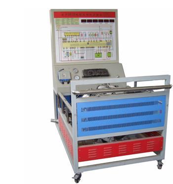 (一)产品简介 本实训台以日产sr18电控汽油发动机为基础,发动机可运行