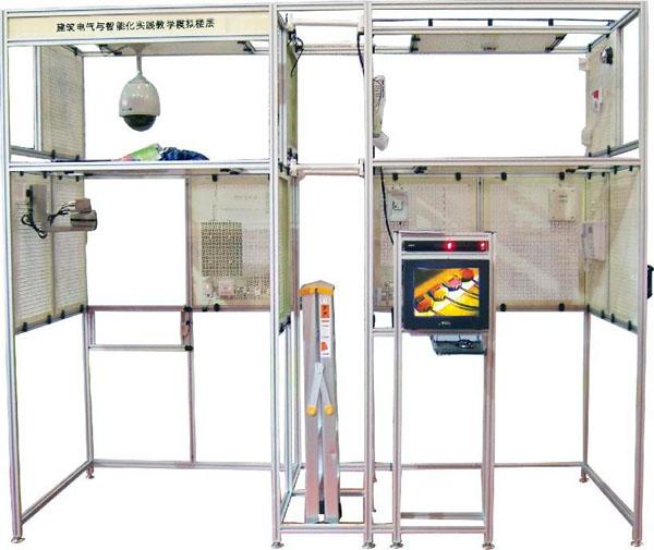 智能楼宇实验实训设备,教学电梯  5,对讲门禁及室内安防系统的接线