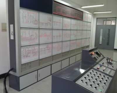 信号实训室设备  组成: 1)城市轨道车辆控制电气回路(26个单元电路)